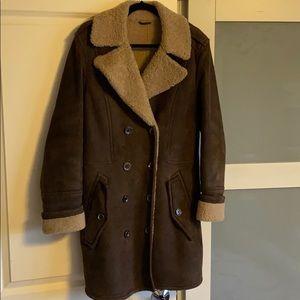 BURBERRY BRIT lamb shearling jacket. 44. Coat